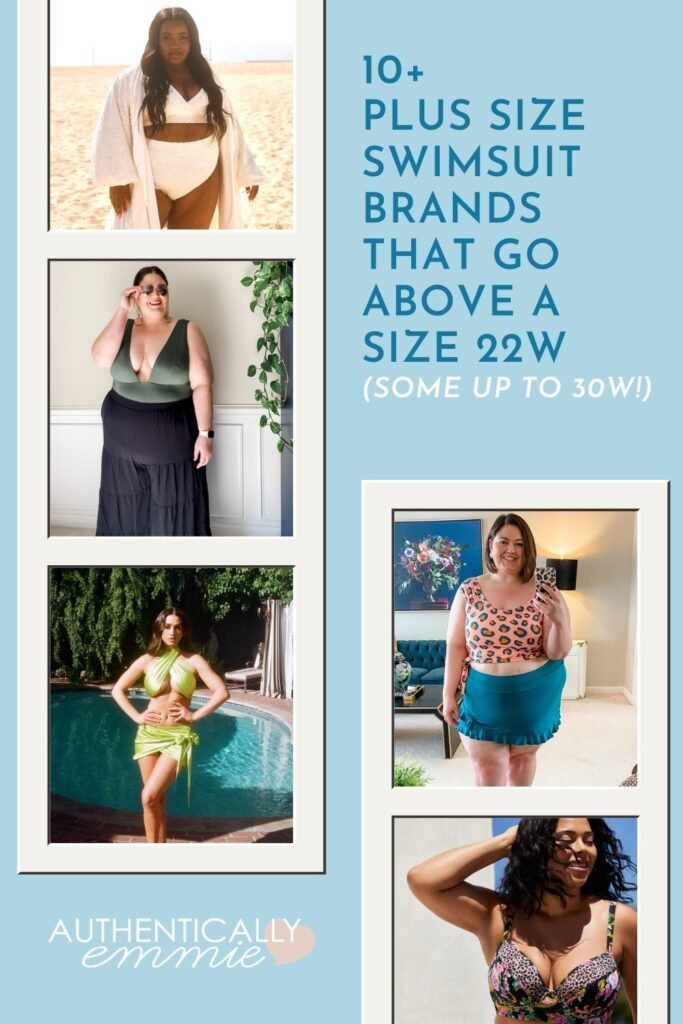 Plus size swimsuit options above a size 22.