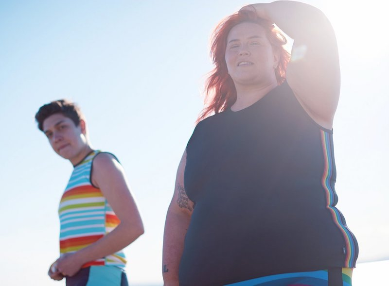 Gender neutral plus size swim from TomboyX